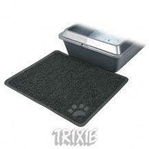 PVC předložka s tlapkou, šedá k WC 45×37 cm