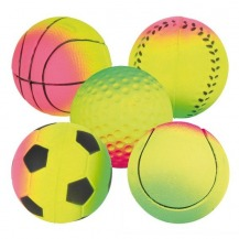 Hračka Sortiment neonových míčů, mechová guma 6cm TRIXIE