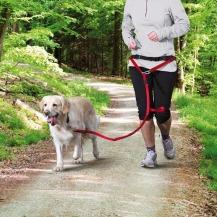 Pás na běh s nylonovým vodítkem pro malé a střednípsy