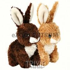 Plyšový králíček sedící 15 cm– tmavě hnědý